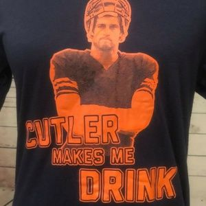 Jay Cutler Makes Me Drink Tee Shirt Chicago Bears
